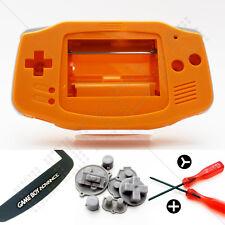Nuevo Orange Nintendo Game Boy Advance Gba Carcasa (Case/Shell/vivienda) y pantalla