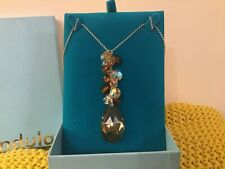 INDULGENCE NEW BOXED CRYSTAL DROP PENDANT NECKLACE