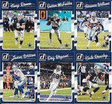 2016 Donruss Dallas Cowboys base team set (10 cards: Romo, Witten, Dez, Emmitt)