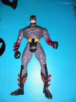Vintage Kenner 1995 DC Comics Batman Action Figure grey with red highlights
