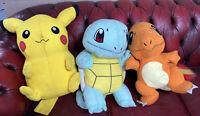 "Large Pokemon Pikachu Charmander Squirtle 21"" Plush Toy Bundle Toy Factory 17/19"