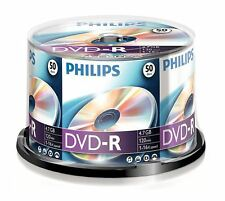 Philips DVD-R 4.7GB 120 Mins 16x Speed Recordable Blank Discs - 50 Pack Spindle