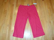 NEW Zenergy by Chico's Red Elastic Waist Capri Pants SIZE 2  (12 14)