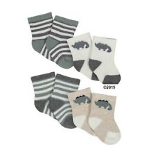 Gerber Baby Boy 4-Pack Dinosaurs Wiggle Proof Socks Size Newborn