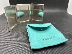 Vintage Sterling Silver Tiffany & CO Triptic Picture Frame #401