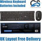 CS 2.4Ghz Wireless Combo Keyboard And Mouse Bundle Set PC Laptop UK Layout