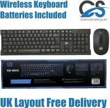 More details for cs 2.4ghz wireless combo keyboard and mouse bundle set pc laptop uk layout