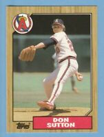 1987 Topps TIFFANY #673 Don Sutton Angels Combined Shipping