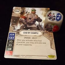 LEAD BY EXAMPLE - RARE #59 Star Wars Destiny Empire At War Card+Die