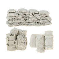 1/35 Resin Accessories Canvas Bag Sandbag Oil Drum WWII Scene Kits Unpainted