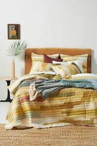 NWT Anthropologie Vivie Patchwork Quilt and Two Shams- Full, Queen, or King