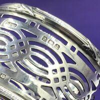 Pierced sterling silver napkin ring Birmingham 1910