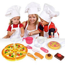 Hot Sale Pizza Party Fast Food Cooking Cutting Play Set Kids Kitchen Pretend Toy