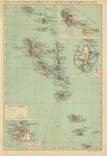 COLONIAL VANUATU. Nouvelles/New Hebrides. Efate Wallis & Futuna. Uvea 1931 map
