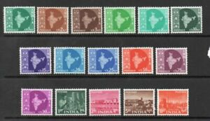 INDIA 1958 ORIGINAL COMPLETE SET of 16 *** SUPERB MINT ***