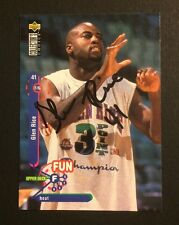 Glen Rice Signed 1995-96 UD Collectors Choice Basketball Card 179 Auto Autograph