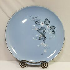 Taylor Smith Taylor Plate Medium Blue Floral Ovenproof Collectible Versatile 9.5