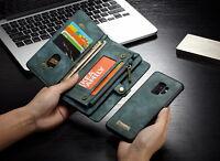 Fermeture éclair Cuir Portefeuille Amovible Etuis Couque Pour Samsung S9+ iPhone