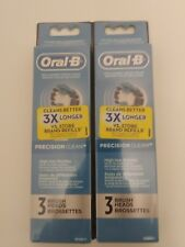 """Oral-B Replacement Brush Heads """"Precision Clean"""" 2 3-Packs (6 Heads Total)"""