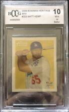 2006 Bowman Heritage Mini Matt Kemp RC Rookie BGS/BCCG 10 Los Angeles Dodgers