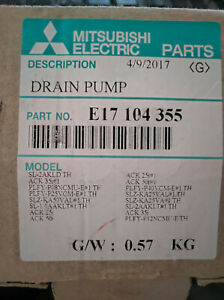 drain pump into cassette of Mitsubishi Electric E17 104 355 E17104355