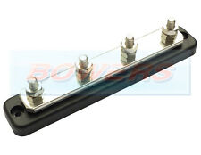 12V/24V 4 WAY POWER DISTRIBUTION BUS BAR 4x8mm STUDS 250A RATED AUTO MARINE BOAT