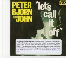 (EY588) Peter Bjorn And John, Let's Call It Off - 2006 DJ CD