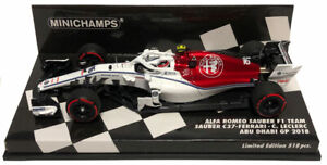 Minichamps Sauber C37 #16 Abu Dhabi GP 2018 - Charles Leclerc 1/43 Scale