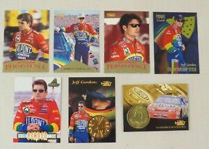 Lot of 7 -1996 1997 Jeff Gordon Trading Cards plus coin - NASCAR - Pinnacle
