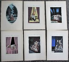 "Lot de 11 planches de Jean Gradassi  "" Point de lendemain ""  Curiosa"
