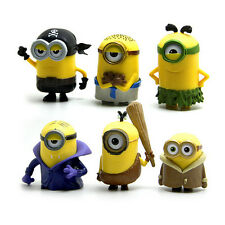 6pcs Set Cute Despicable Me Minions Movie Character Figures Doll Toy Gift