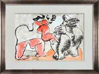 Le CORBUSIER Lithograph in Color ORIGINAL Ltd. Ed. SIGNED +w/Archival Frame