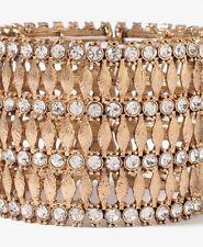 FOREVER 21 crystal rhinestone stretch bracelet gem NWT gold