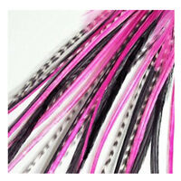 6-11 inch Pink, Black Mix 100% Real Hair 5 Feather Extensions bonded at the tip