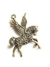 Anhänger Pegasus XL 52 x 41 mm Charm Pferd Flügel Kettenanhänger bronze basteln