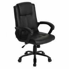 Black PU Leather Ergonomic Office Executive Computer Desk Task Office Chair T30