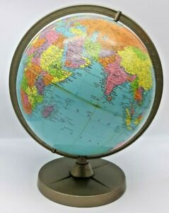 """Vintage Replogle 12"""" Reference Globe USSR 1950's Mid Century Nice Condition"""