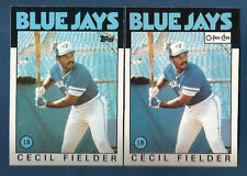 (2) 1986 TOPPS & O-PEE-CHEE BLUE JAYS CECIL FIELDER  ROOKIE  CARD LOT #386