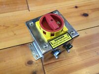 KG10A Kraus & Neimer 3 Pole Isolator Switch, IP65 Stainless, 5.5KW, 20A