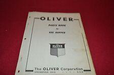 Oliver Tractor Vee Hooper Dealer's Parts Book Manual Bvpa
