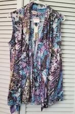 NWT Tianello Womens Vest Size L  Open Front Cover Up