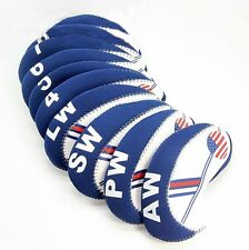 For 10X Craftsman Golf Iron Club Head Covers Headcovers USA FLAG