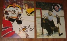 HOFers Phil Esposito+Tony Esposito rare 1973 oversized promo cards ACTION HOCKEY