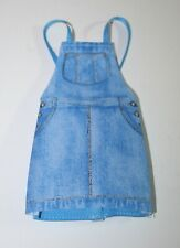 Barbie Doll Blue Faux Denim Jean Overall Skirt