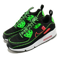 Nike Air Max 90 SE2 GS Worldwide Black Green Crimson White Kid Women CV7665-001