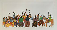 Virginia Stroud Art Print 1982 Warriors Gathering Native American Signed