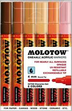 MOLOTOW ONE 4 ALL 227 - 6 PIECE DRAWING MARKER PEN SET - CHARACTER SET