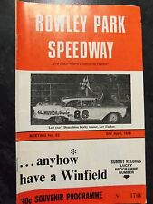 APRIL 2ND 1976 SPEEDWAY OFFICIAL PROGRAM ROWLEY PARK MEETING NUMBER 23