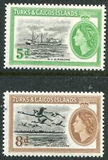 Turks & Caicos 119-120, MNH, Ships. x2988