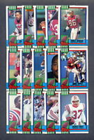 1990 Topps New England Patriots TEAM SET w/Traded